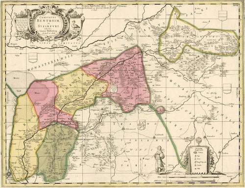 Old map of Grafschaft Bentheim