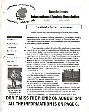 Photo of Society's third newsletter