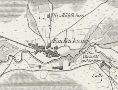 map of Emlichheim, where Lucas Veldink was born