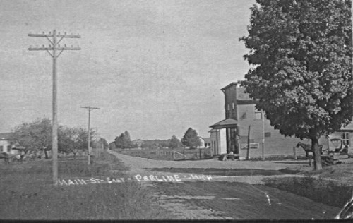 View of Pearline (Allendale) Michigan, where Albert Dyke retired to after farming.