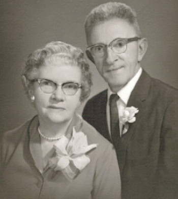 Portrait of Carrie and Albert Bielefeld on their 50th anniversary