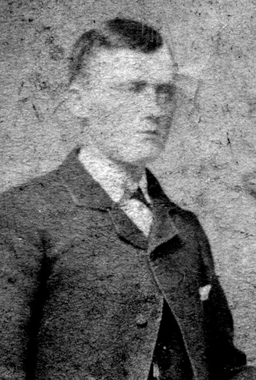 Black and white portrait photograph of Jan Albert Gemmen.