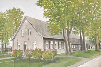 Illustration of the original site of the Bielefeld home in Tinholt, Germany.