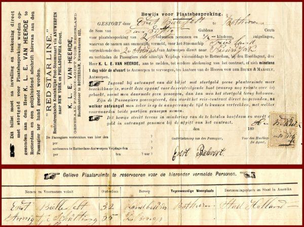 Handwritten form in Dutch