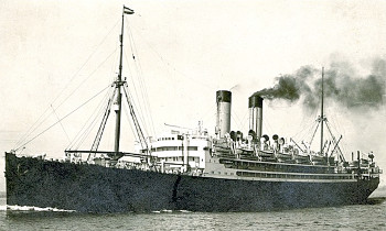 Photograph of the S.S. Friesland, which the Bielefeld family sailed on.