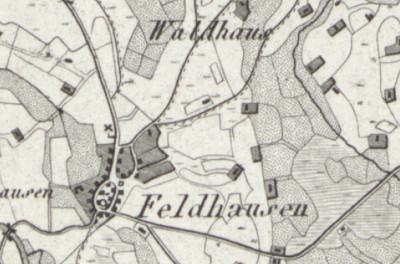 Hand-drawn map of Veldhausen, where Wilhelmina Meyer was born.