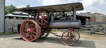 Photograph of antique tractor at Greenfield Village, Dearborn, Michigan