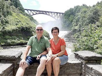 Die Grafschafter Reisegruppe besuchte Letchworth State Park in New York.