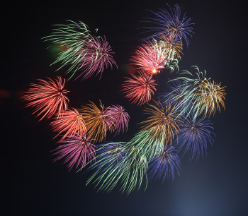 Photograph of fireworks display
