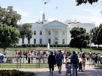 """Die Grafschafter Reisegruppe und das """"White House"""" in Washington, DC."""