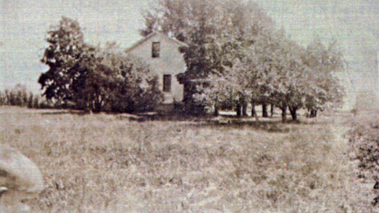 Old photograph of the Harm Hendrik Broene house in Allendale.