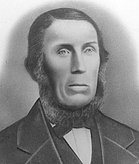 Black and white portrait of Harm Hendrik Broene.