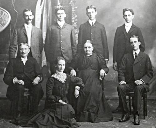 Photo of Geert Broene and Andina Harmsen's family.