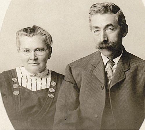 Berend Klukkert and wife Amanda in 1910