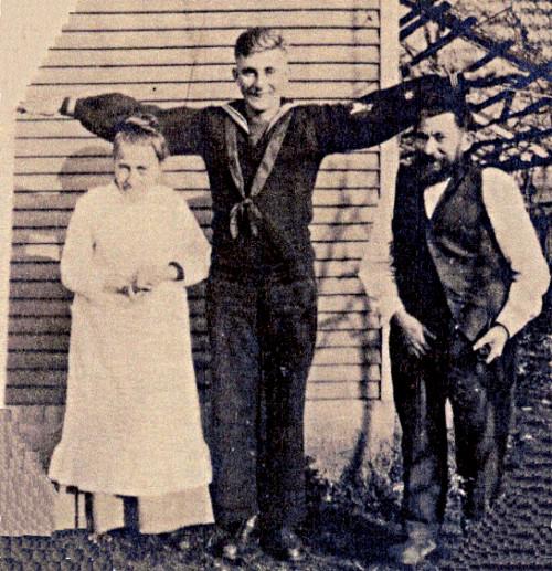 Photo of Albert Lotterman, wife Sarah, and son Peter