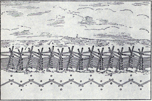 drawing of a wooden fence
