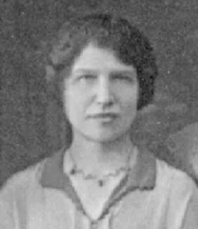 black and white photo of Hattie Lotterman