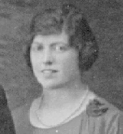 black and white photo of Lena Gemmen, Sena Gemmen's sister