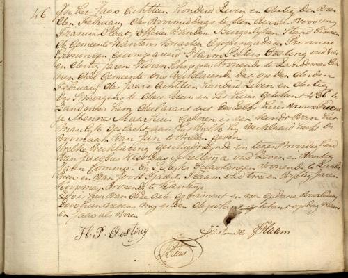 Handwritten birth certificate