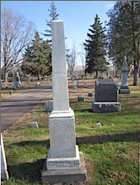Anton Schorno monument in cemetery