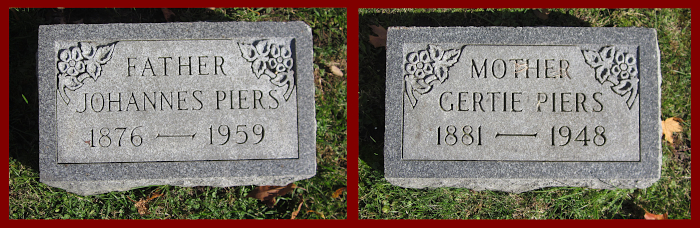 Gravestones of Gertje Veldhuis and her husband