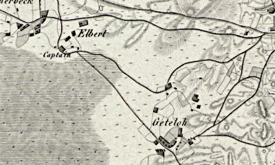 Hand drawn map of Getelo where Albert Kraker was born