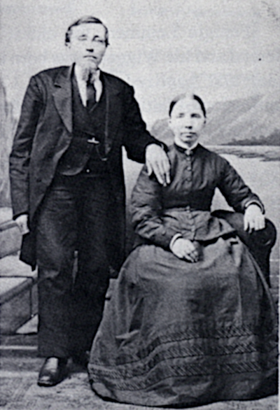 Photo of man and woman in a formal portrait