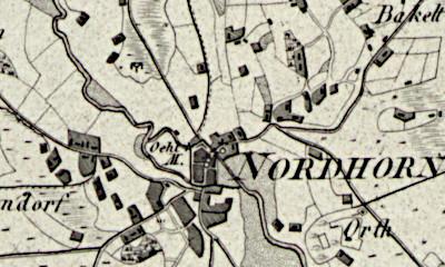 Hand drawn map of the Frensdorf area where Zwaantje Lummen was born.