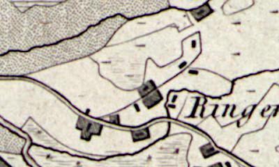Hand drawn map of Klieinringe where Fenne Schoemaker was born.