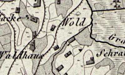 Hand drawn map of Osterwald, Grafschaft Bentheim.